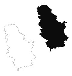 Map serbia isolated black on vector