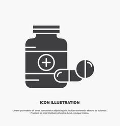 medicine pill capsule drugs tablet icon glyph vector image