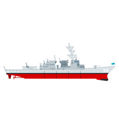 Missile cruiser flat icon isolated vector
