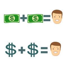 money make you happy vector image