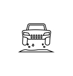 off road jump icon element of racing for mobile vector image