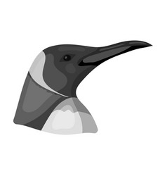 penguin icon in monochrome style isolated on white vector image