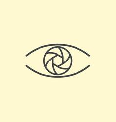 photography logo design eye line art vector image
