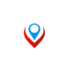 Position technology gps logo vector
