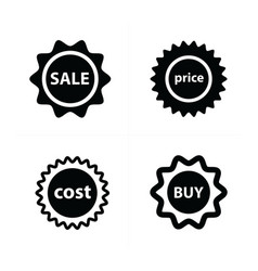 Price tags label set vector