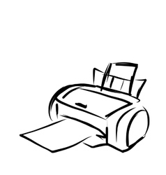 Printer sketch for your design vector image