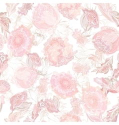 Romantic Soft Floral Pattern vector