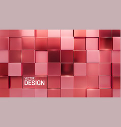 Rose gold mosaic background vector