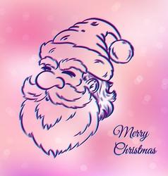 Santa pink vector