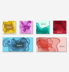 set 6 backgrounds with different colors paper vector image