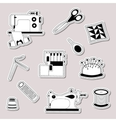 Set of design element logo badge label vector