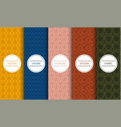 set seamless colorful patterns vector image