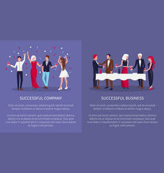 successful company business vector image