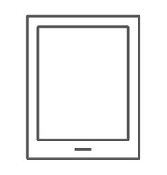 tablet thin line icon electronic and computer vector image