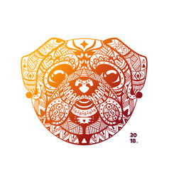 template design of the tribe head pug vector image