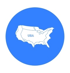 Territory of the United States icon in black style vector image vector image