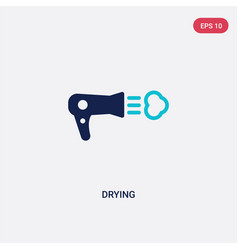 two color drying icon from fashion concept vector image