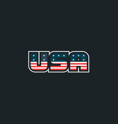 usa logo with usa flag elements usa badge vector image