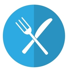 Utensils kitchen fork and knife shadow vector