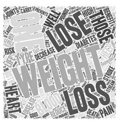 Weight Loss Word Cloud Concept vector