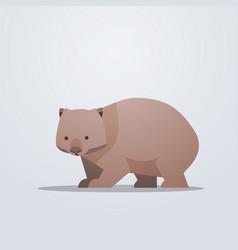 wombat icon cute cartoon wild animal symbol with vector image