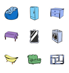 appointment icons set cartoon style vector image