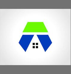 building geometry logo vector image
