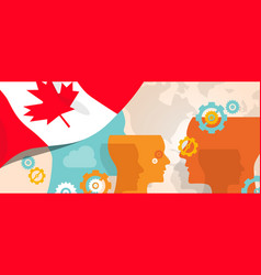 canada concept of thinking growing innovation vector image vector image
