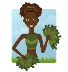 cheerleader girl vector image vector image