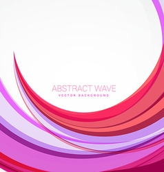 clean pink wave background design vector image