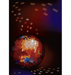 dark background with disco ball vector image vector image