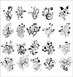 floral elements for design vector image vector image