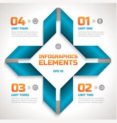 infographics geometric template vector image