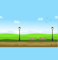 beauty landscape of garden with chair vector image vector image