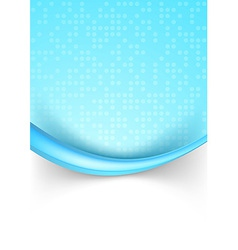 Bright blue dotted abstract background with border vector image vector image