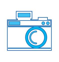 cute blue icon camera cartoon vector image
