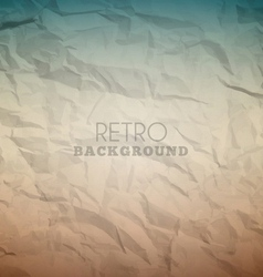 Retro crumpled background vector image vector image
