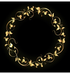 Round pattern gold vector image vector image