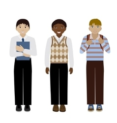 School boys flat vector image