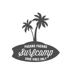 Vintage surfing label badge and emblem vector