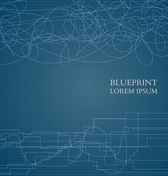 Abstract Blueprint Background For Business vector image