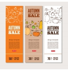 Autumn banners vector image vector image