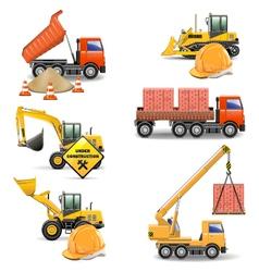Construction machines set 4 vector