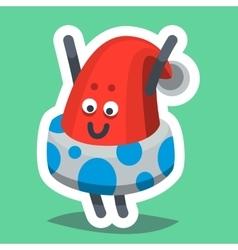 Emoticon Icon Happy New Year Hat vector image vector image