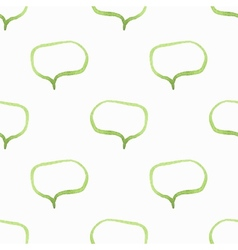 Seamless watercolor pattern with speech bubbles vector image vector image