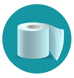 toilet paper icon on blue web button vector image