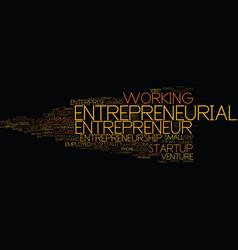 entrepreneurial word cloud concept vector image vector image