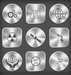 gears chemical test tubes shift globe radiation vector image