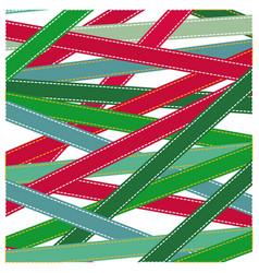 pattern colorful ribbon strips xmas vector image