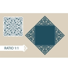 Template folding cards for greeting invitations vector